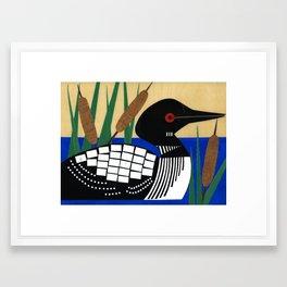 Maine Loon Framed Art Print