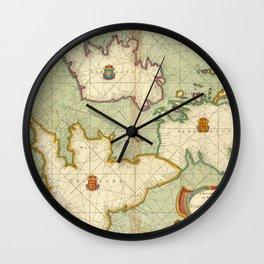 Vintage Map of The British Isles (1707) Wall Clock