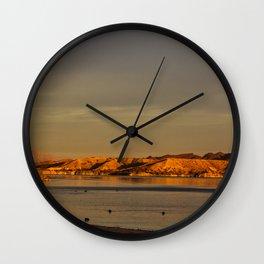 Morning Gold Wall Clock