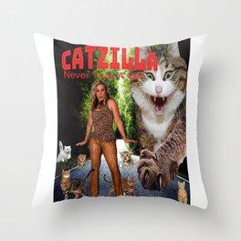 Kitty Chick & Bunny Girl Throw Pillow