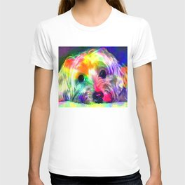 Colorful Yorkie By Annie Zeno  T-shirt