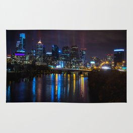 Philly Skyline Glowing Rug