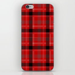 Red And Black Plaid Flannel iPhone Skin