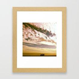 COWBOYS ON THE BEACH Framed Art Print