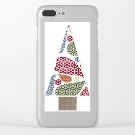 Paisley Snowflake Christmas Tree Clear iPhone Case