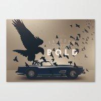 ferrari Canvas Prints featuring Ferrari by Seventy Two Studio