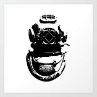 Diving Helmet Art Print