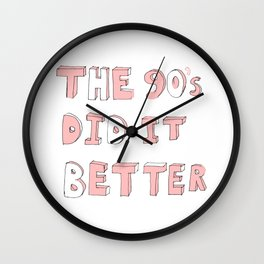 90's Child Wall Clock