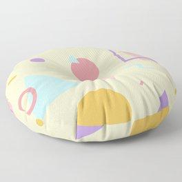 Light Yellow Memphis Floor Pillow
