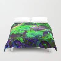 baroque Duvet Covers featuring The baroque by shiva camille