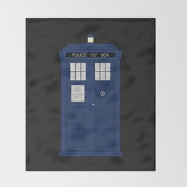 Doctor Who's Tardis Throw Blanket