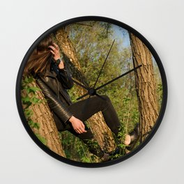 Forest Ninja Wall Clock