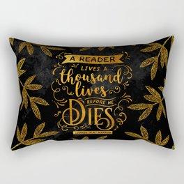 Thousand Lives - gold Rectangular Pillow
