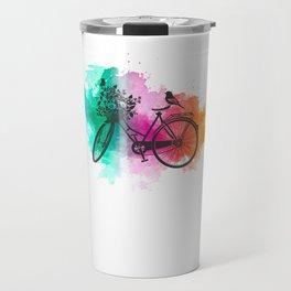 Colorful Bicycle Art Gift Bike Lover Gifts Travel Mug