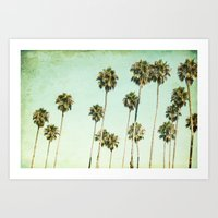 palm trees Art Prints featuring palm trees by Mareike Böhmer