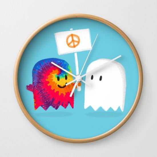 Hippie ghost Wall Clock