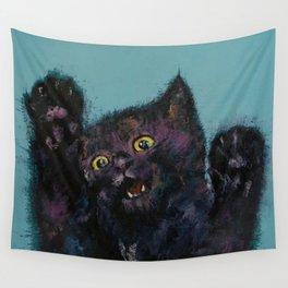 Ninja Kitten Wall Tapestry