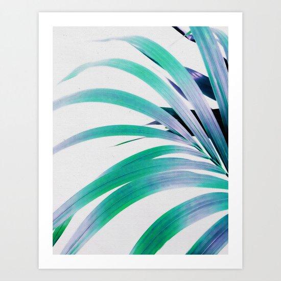 Colored Palm Leaf Art Print