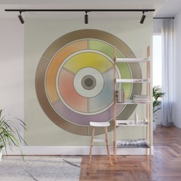 The theory of colouring - Diagram of colour by J. Bacon, 1866, Remake, vintage wash (no text) Wall Mural