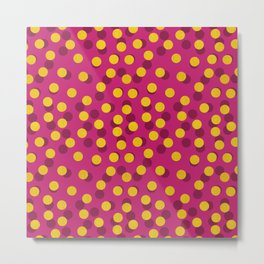 Gold Spotty Dots Metal Print