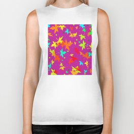 Forever Autumn Leaves purple 4 Biker Tank