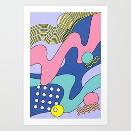 Waves 03 Art Print
