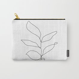 Plant one line drawing illustration - Kay Carry-All Pouch