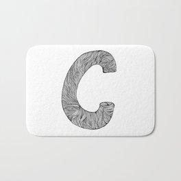 Hand Drawn Font C Bath Mat