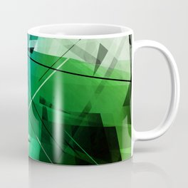 Jungle - Geometric Abstract Art Coffee Mug