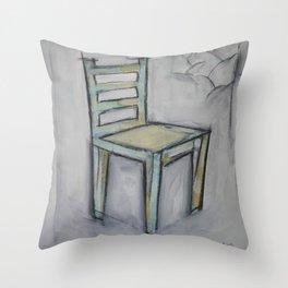 The Artist's Chair Throw Pillow