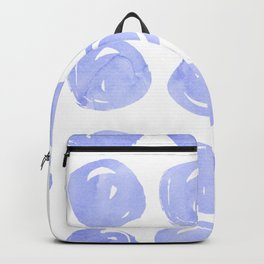 Modern hand painted violet lilac brushstrokes polka dots Backpack