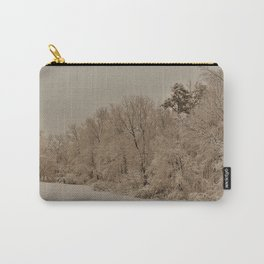 Snowy White with Zeke Filter Carry-All Pouch