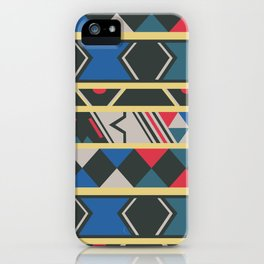 Ndebele red, yellow, blue iPhone Case