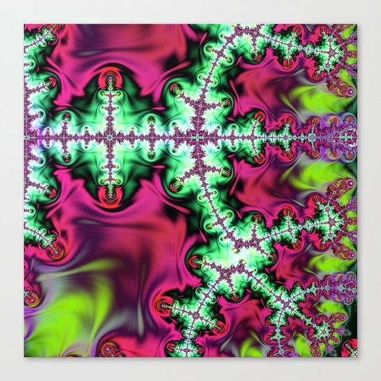 Life stream, fractal abstract art Canvas Print