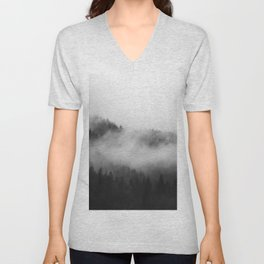 Foggy Forest Unisex V-Neck