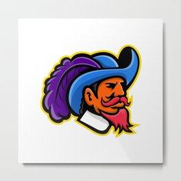 Cavalier Head Mascot Metal Print