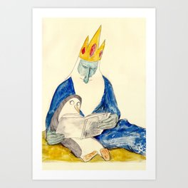 Ice King and Gunter Art Print