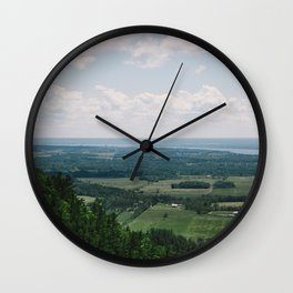 Canadian Mountain Lookout Wall Clock