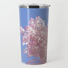 Pink Tree Blue Skies Travel Mug