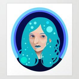 Vector Girl Art Print