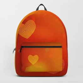 Abstract red Heart. Valentine's day card Backpack