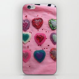 Glitter Hearts Club iPhone Skin