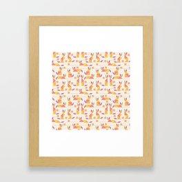 Tangram Cats Framed Art Print