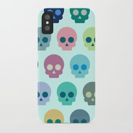 Colorful Skull Cute Pattern iPhone Case
