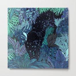 The Jungle at Night Colour Version Metal Print