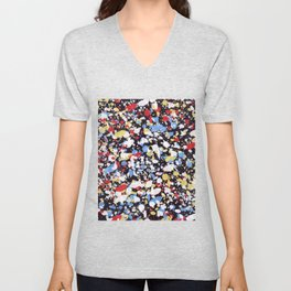 Abstract 35 Unisex V-Neck