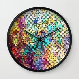 Decorative Rainbow Tiled Mosaic Abstract Wall Clock