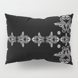 'Faith' - Cross of Lace in black and white Pillow Sham