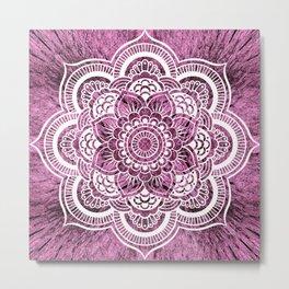 Mandala Mauve Colorburst Metal Print