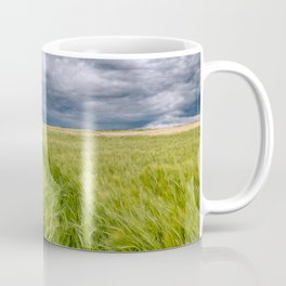 barley blowing in the wind before the storm Coffee Mug